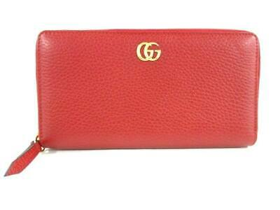 eb93b4da4b3 GUCCI 456117 PETIT Marmont Zip Around GG purse Gold Hardware leather ...