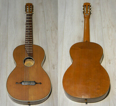 Old Herwiga Wilh. Herwig Parlor Guitar Markneukirchen Germany to 1940 Vtg