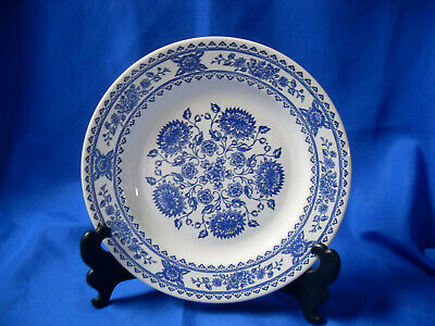 Royal China Hampshire Vendome Blue and White Dinner Plate