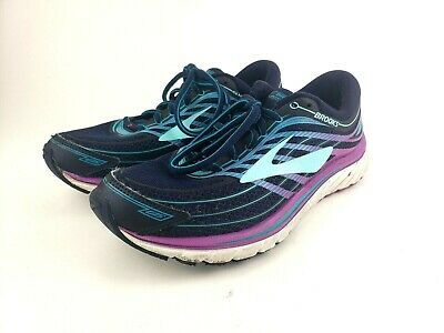 5de1f0c2e67 Brooks Glycerin 15 Womens size 7 Evening Blue Purple Cactus Flower Teal