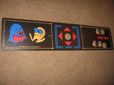 1980 MIDWAY PAC MAN Upright Arcade Control Panel Overlay  NAMCO REPRODUCTION NEW