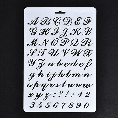 Lettering Stencils, Letter and Number Stencil, Painting Paper Craft Alphabet HV
