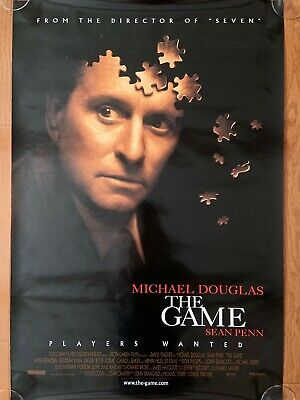 """""""THE GAME"""" PLAYERS WANTED MOVIE POSTER 27 X 40 Rolled MICHAEL DOUGLAS"""