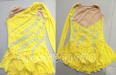 A866 Custom Fashion figure Skating Dresses  skating costumes For Adults or Girls