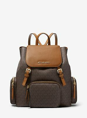 4a2ff96f899f MICHAEL KORS RARE Checkerboard Large Abbey Backpack Brown Black ...