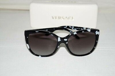 7135d3e2591 Authentic VERSACE MOD.4281 Black  White Black Gradient Sunglasses Made in  Italy