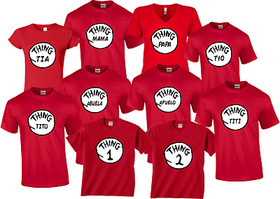 c6813565 THING 1 2 T-Shirts Thing Mom Dad Grandma All sizes Halloween Dr ...
