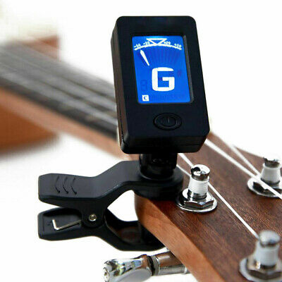 LCD Clip on Electronic Digital Guitar Tuner Electric Guitar Bass Ukulele Oud New