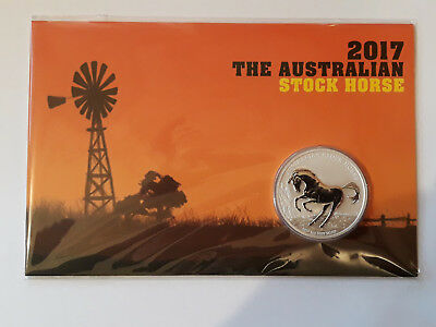 2017 $1 The Australian Stock horse 1oz Silver Coin P mintmark