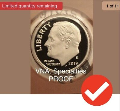2019-S Proof Roosevelt Dime, Clad Proof Coin it,s SENT THE SAME DAY !!!!