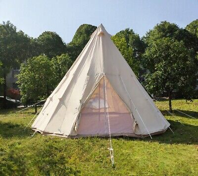 Canada Shipped Outdoor 4M Canvas Cotton Camping Tepee Tent India Tipi Bell Tent
