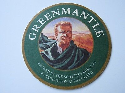 Beer Bar Mat Coaster: Greenmantle Brewed In The Scottish Borders By Broughton