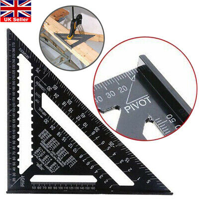 "12"" Aluminium Roofing Triangle Rafter Angle Frame Measuring Square Carpenter"