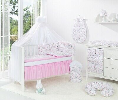 BEDDING SETS 14 PART SET COT BED 120x60 WITH DRAWER  INCLUDING FOAM MATTRESS