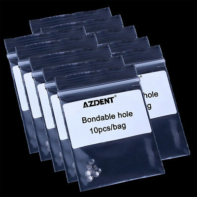 100 PACK Dental Orthodontic bondable lingual button, Mesh Base of TOMY type