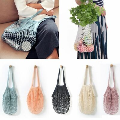 Net Shopping Tote Bag Fruits Vegetables Bags Cloth Clear Basket Picnic Baskets