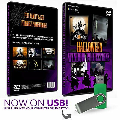 HD Halloween USB Digital Projection Decoration for TV, Projectors and Computer -