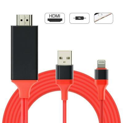 Lighting to HDMI Cable, Digital AV Adapter, Type c Charger, Sicotool 6.6ft HDMI