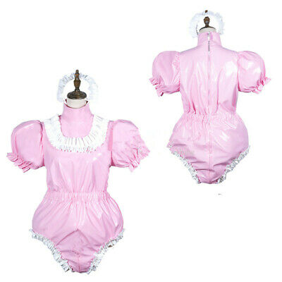 NEW !Adult sissy baby PVC Romper vinyl Unisex tailor-made!free shipping