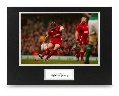 Leigh Halfpenny Signed 16x12 Photo Display Rugby Autograph Memorabilia + COA