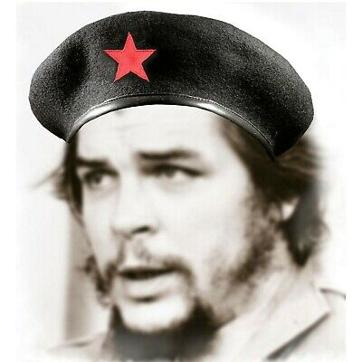Che Guevara Beret with Red Star 100% Wool Cuban Military Beret Cap For Men NEW