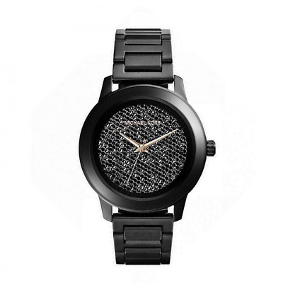 976bc898662b MICHAEL KORS MK5999 Kinley Women s Black Ion Diamond Dial Watch ...