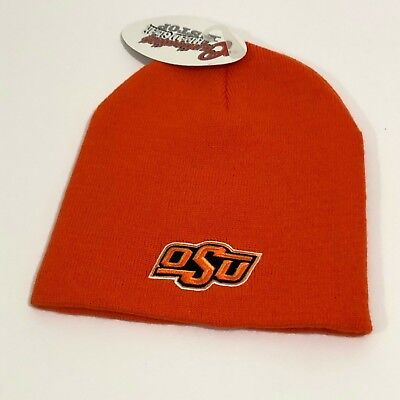 a6cdd15f6 NEW OSU OKLAHOMA State University Beanie Hat OS adult orange winter college  nwt