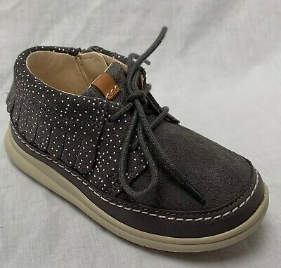 14ce7ead29a BNIB Clarks Baby Girls Cloud A Klark FST Grey Air Spring Boots F G Fitting