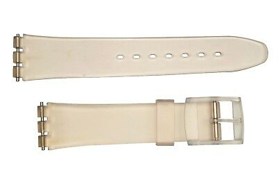 Swatch Replacement 17mm Plastic Watch Band Strap frost fit