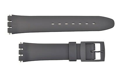 Swatch Replacement 17mm Plastic Watch Band Strap Gray Fits
