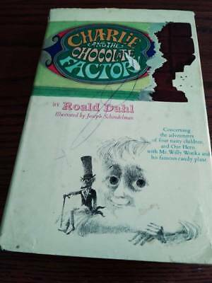 Charlie & the Chocolate Factory Roald Dahl 1964 1st edition 6 line DJ/HC.