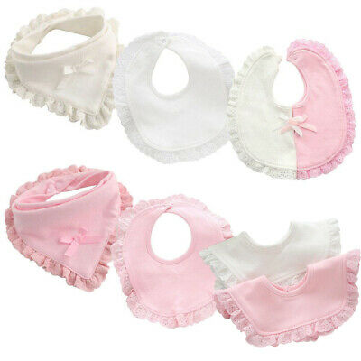 Newborn Toddler Cotton Baby Bibs Boy Girl Saliva Towel Kids Soft Bib Feeding UK
