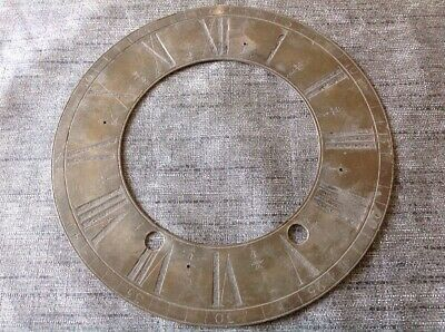 Antique Clock Brass Dial Face Chapter Ring 172mm Outer 100 Inner Diam.
