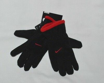 Nike Fleece Gloves Youth Boys Black/ Red