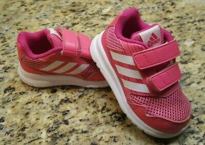 2198cb17754cf Infant Toddler adidas Tennis Shoes Sneakers Size 6 (6c) Pink no-tie Girls