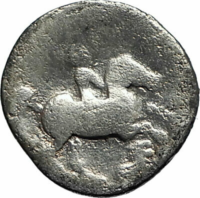 PHILIP II Alexander the Great Dad OLYMPIC GAMES Silver Greek Coin Horse i76190