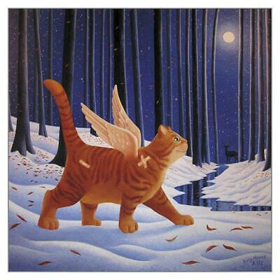 A Walk on the Quiet Side Cat Greeting Card Vicky Mount Christmas Sympathy Cards