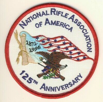 """NRA National Rifle Association of America 125th Anniversary 1871-1996 4/"""" Patch"""