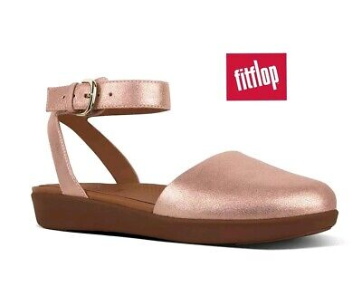 d6cce341b5cd Fitflop Cova Glimmer Sude Leather Apple Blossom Pink Metallic Strapped  Sandals