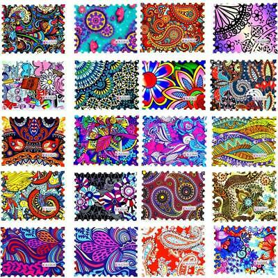 1 Sheet 2019 New Fashion Colorful Full Cover Stamp Nail Sticker Nail Art Water T