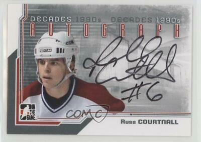 2013-14 ITG Decades 1990s Silver Russ Courtnall #A-RC Auto