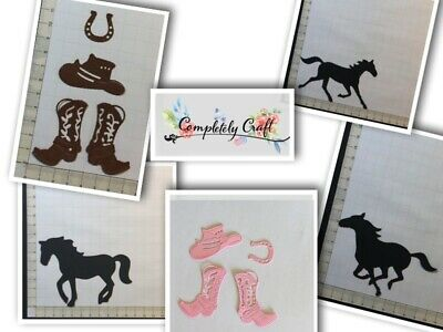 Cowboy, Cowgirl Style Die Cuts - scraping, embellish, birthday, card, toppers