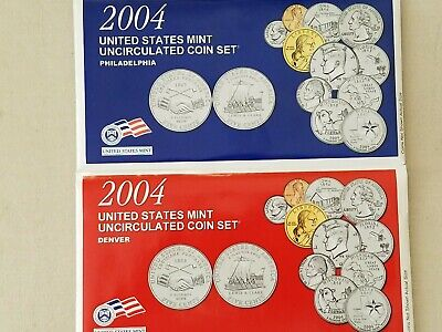 2004 P&d Official United States Mint Uncirculated 22 Us Coin Set Factory Sealed