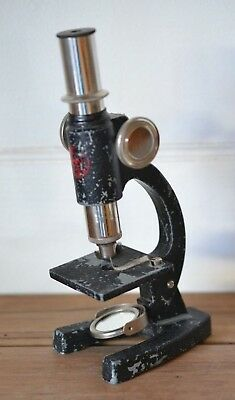 Vintage Childs Microscope metal Made in England