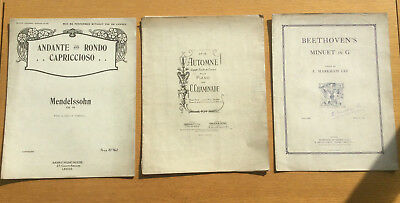 VINTAGE PIANO SONGS, Beethoven's Minuet in G, Automne Sheet