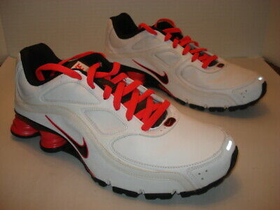 new concept cfc7d 81ea3 MEN'S NIKE TURBO 9 Shox Athletic Tennis Shoe White / Orange Size 13