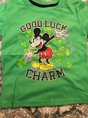 a208d2ccc DISNEY MICKEY MOUSE Good Luck Charm st. Patrick's day Shirt - $4.90 ...