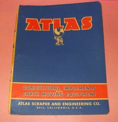 Vintage 1960's Atlas Agricultural Implements & Earth Moving Equipment Catalog