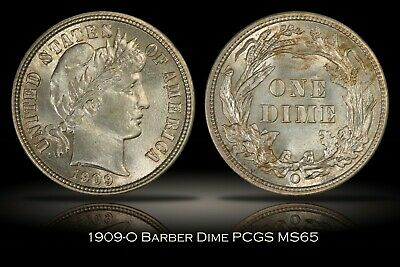 1909-O Barber Dime PCGS MS65 Last New Orleans Mint Issue Flashy Gem 10c