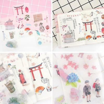 6 sheets DIY Cute Kawaii PVC Flower Stickers Cartoon Cat Stationery Stickers Set